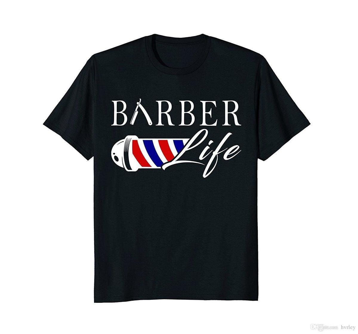 T Shirt Overhemd.T Shirt Zomer Nieuwigheid Cartoon T Shirt Kapper Leven Nieuwe Film