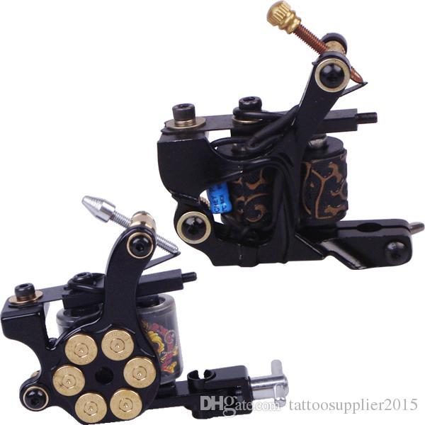 professional tattoo machine set complete tool box power ink switch needles tip kit tattoo body art supplies