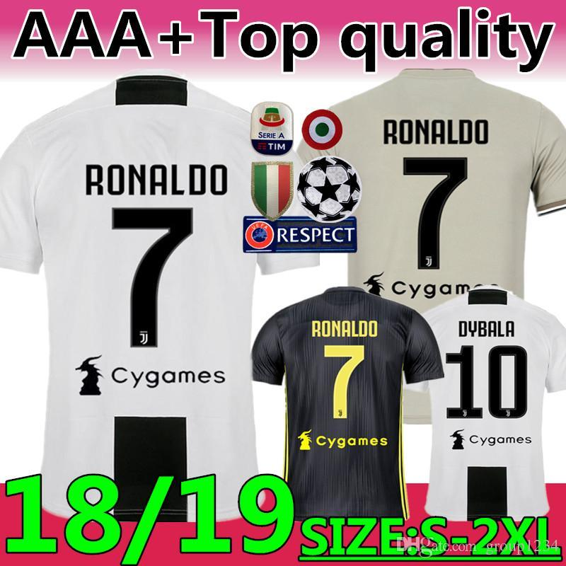 c15b16079 New 2019  7 RONALDO JUVENTUS Soccer Jersey 18 19 JUVE Home Third Kit ...