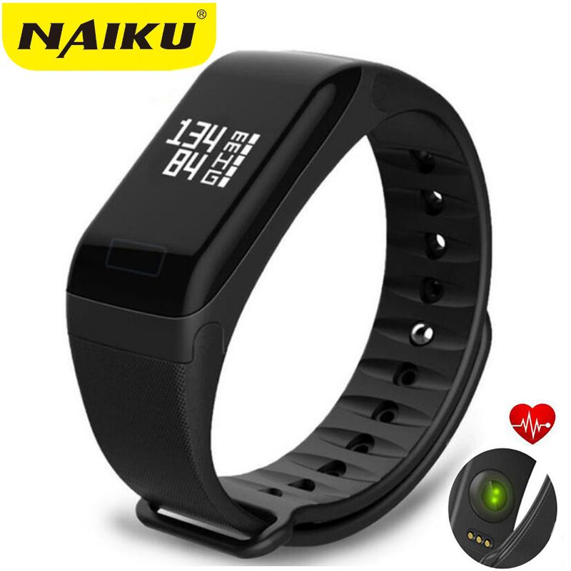 9fe2acf3f75 NAIKU Fitness Tracker Wristband Heart Rate Monitor Smart Bracelet F1  Smartbracelet Blood Pressure With Pedometer Bracelet Best Fitness Trackers  Fitness ...