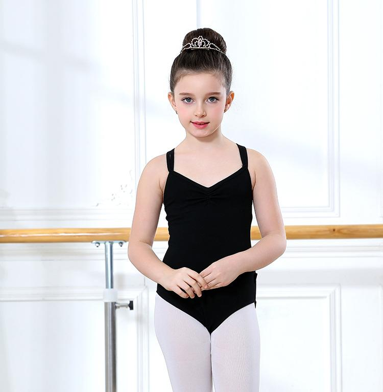 3dce8aae0332 2019 Girls Sleeveless Ballet Gymnastics Leotard For Dance Bodysuit ...