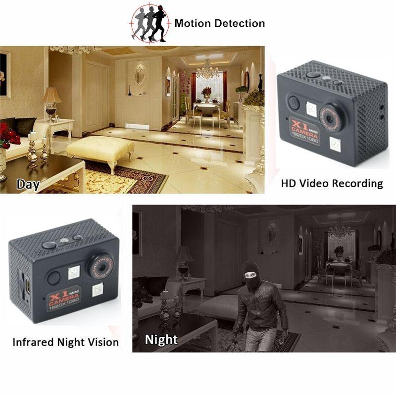 X1 Mini Camera HD 1080P Night Vision Micro Camcorder Car DVR Infrared Video Recorder Sport Digital Micro Cam With Motion Sensor