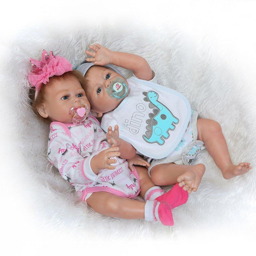 0d42e86ca 18Inch Open Eyes Kids Reborn Baby Doll Soft Full Body Silicone Lifelike  Newborn Doll Boy Girl Gift For Children Realistic Reborn Realistic Baby  Dolls Real ...