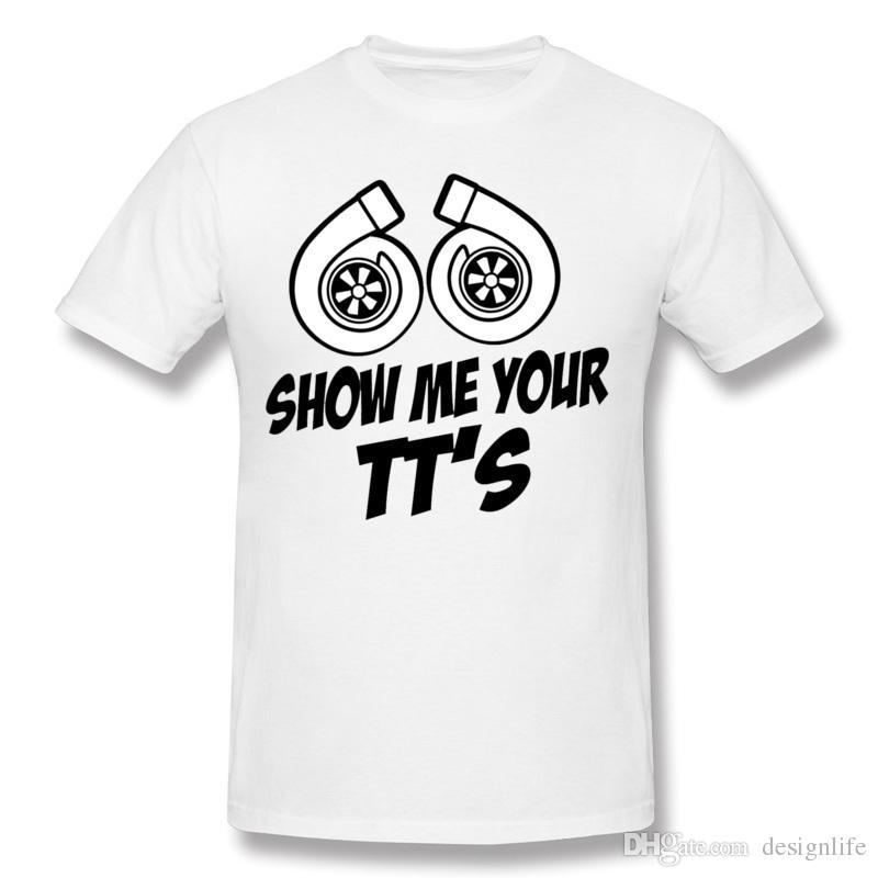 Designer Men Cotton Show Me Your Tt S Twin Turbo Car Tee Shirts - Car show t shirt design ideas