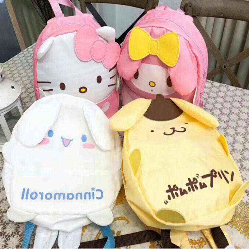 a736cb4b69 Kawaii 3D My Melody Hello Kitty Cinnamoroll Pudding Dog Polyester Children  Backpacks Kindergarten Schoolbag For Girls Boys Hunting Backpacks Gregory  ...