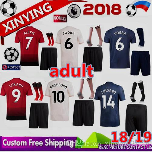 6576483ff55 Champions League 18 19 Adult Manchester United Soccer Jersey Men ...