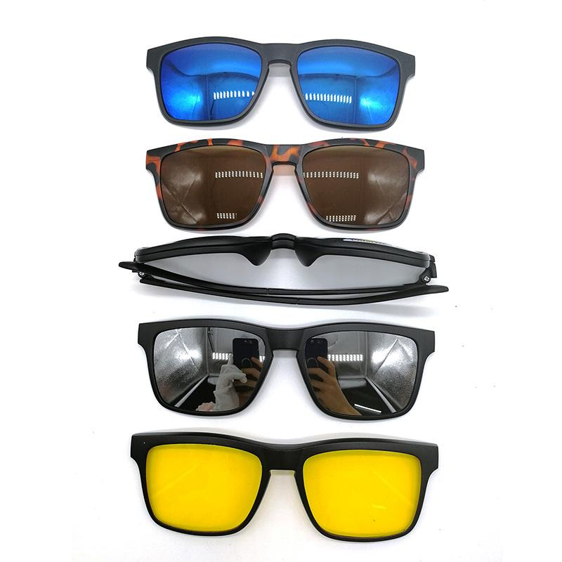 4271a37000a Magnetic Polarized Clip-on Sunglasses Plastic Frame for Night Driving  Sunglasses Cheap Sunglasses Magnetic 5Pcs Polarized Clip on Online with   28.28 Piece ...