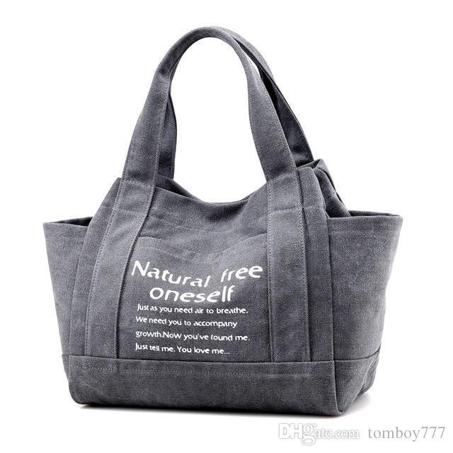 5462aefd7 Compre Nueva Lienzo Vintage Bolsos De Las Mujeres De Gran Capacidad Diseño  De Las Señoras Bolsa De Hombro Sólido Bolsa De Viaje Ocasional Bolsos Mujer  A ...