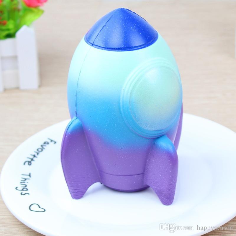 Squishy Rocket Squeeze Slow Rising Jumbo 15cm Cohete de Dibujos Animados Aliviar El Estrés Suave Decoración Del Hogar Encantos Del Teléfono Llavero Kid Toy Gift