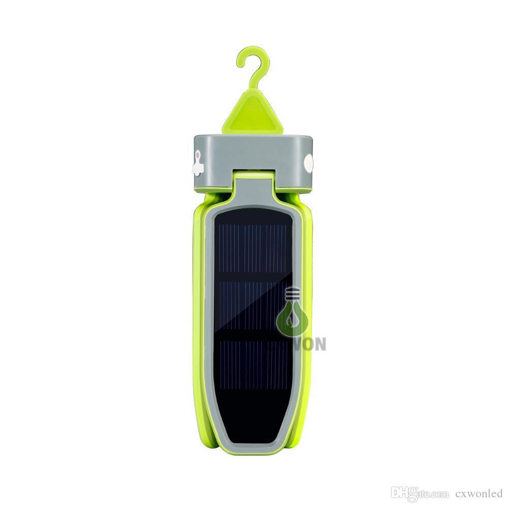 في الهواء الطلق اتفاق للطاقة الشمسية LED خيمة التخييم فانوس مصباح يدوي 18LED 100LM بطارية قابلة للشحن العظمى للتخييم، المشي لمسافات طويلة، الرحلات