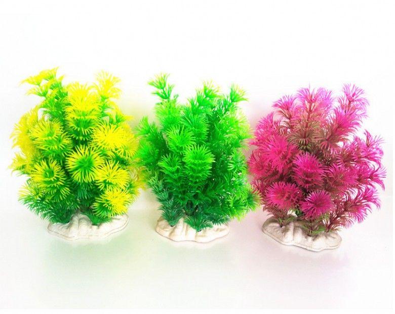 / vente chaude artificielle vert coloré plante sous-marine réservoir de poissons aquarium décoration oranment plante décorative