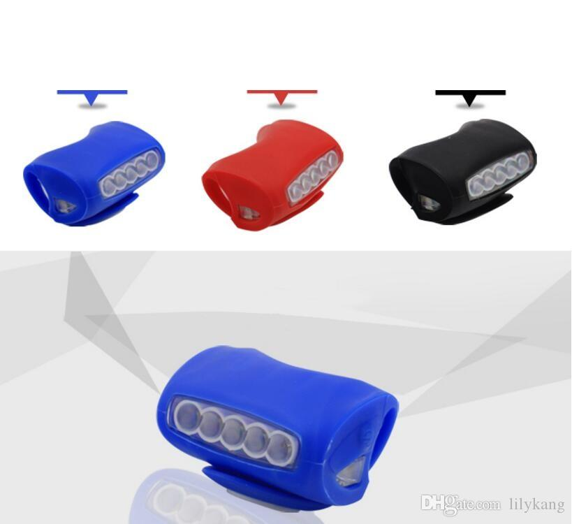 flashing silicone bike lamp light biycle Accessories safety 7 led cycling head light outdoor cycling warning light led flashlight