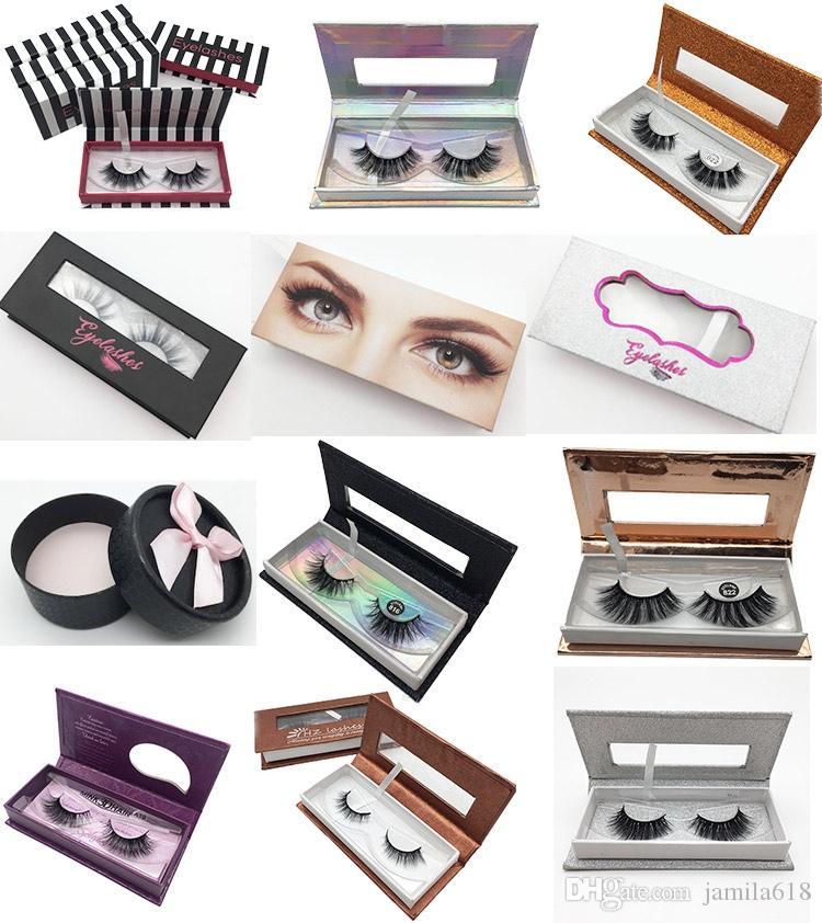 5c80673eeaf 2019 Fashion No Logo Makeup Cosmetics False Mink Eyelash Packaging Box  Empty Eyelash Case Magnetic Lashes Paper Box Custom Eyelash Box From  Jamila618, ...