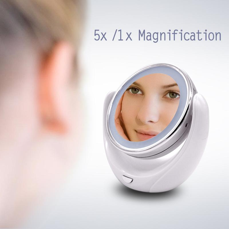 Facial magnifying mirror