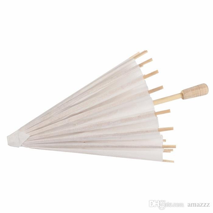 60pcs bridal wedding parasols White paper umbrellas Chinese mini craft umbrella 4 Diameter:20,30,40,60cm wedding umbrellas for wholesale