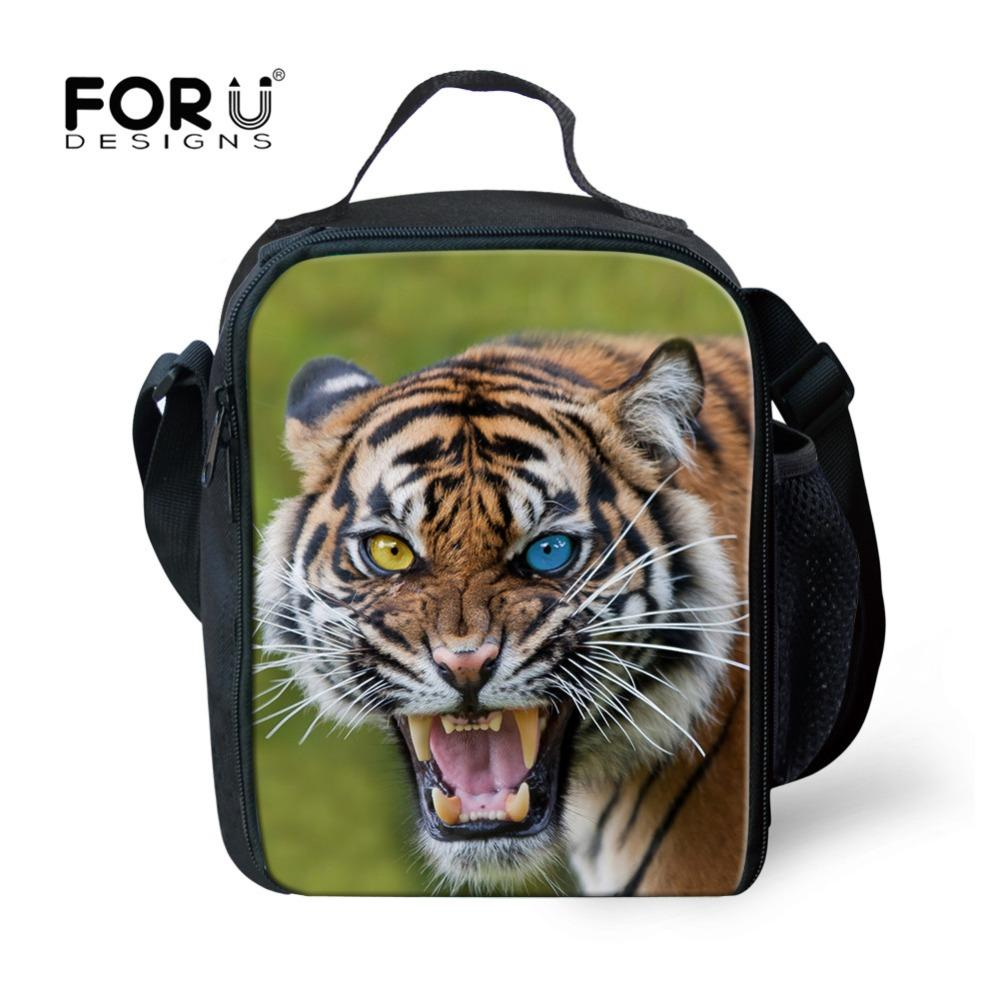 FORUDESIGNS Lunch Package Tiger Printed Thermo Thermal Lunch Bag for Women Kids  Tote Cooler Picnic Insulated Storage Bento Lunch Bags Cheap Lunch Bags ... 853235a8416aa