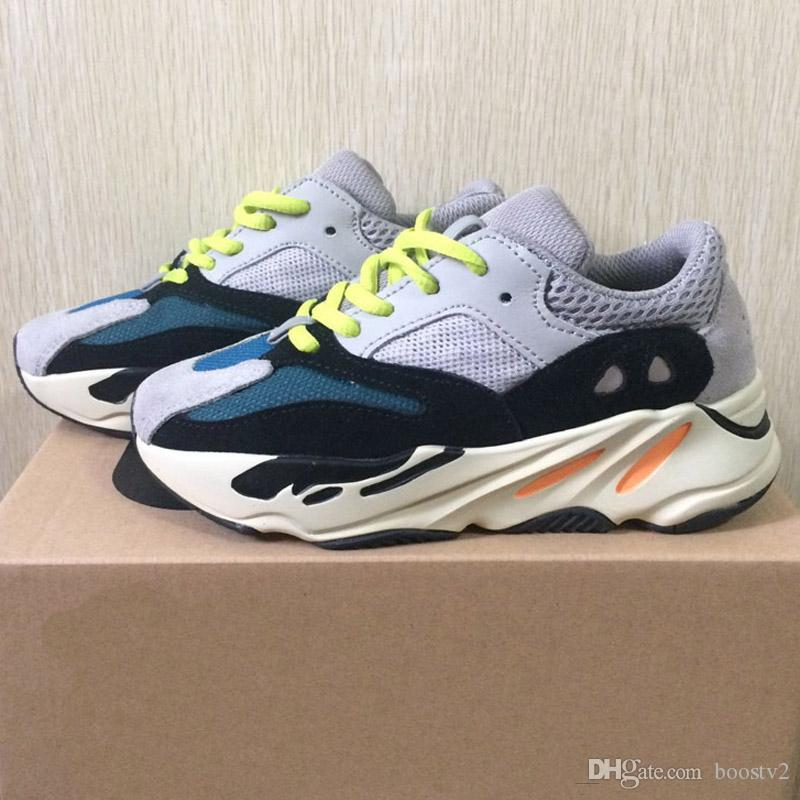 c887698572f64 New Kids Shoes Wave Runner 700 Running Shoes 2018 Children Athletic Shoes  Kanye West Baby Boy Girl Trainer Sports Sneakers With Box Toddler Tennis  Shoes ...