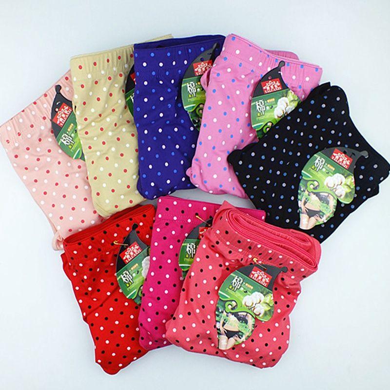 637d7b6f2 Compre Ropa Interior Femenina Barata Al Por Mayor 10 Unids   Lote Cotton  Dot Underwears Bragas De Las Mujeres Más El Tamaño 6XL Escritos De La Ropa  Interior ...