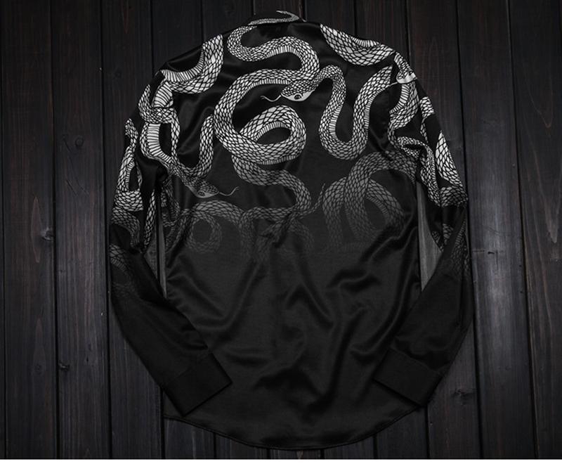Camicie da uomo primavera 2018 Raptor Gothic caduta del vento nuova camicia maschile Slim modelli Star fashion cappotto Mr