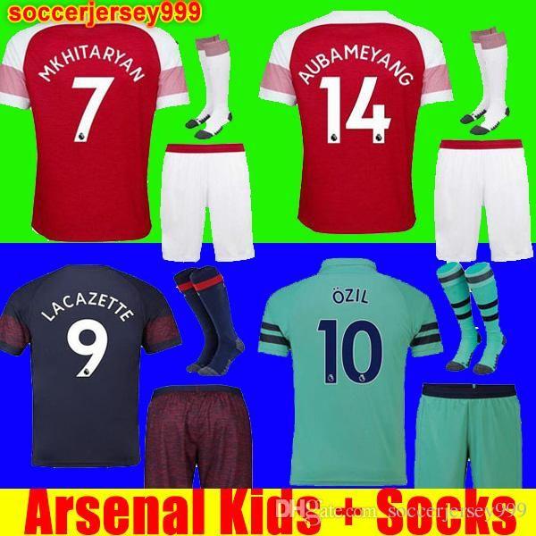 ebec9c7d0 Thailand Arsenal Soccer Jersey Football Shirt Uniforms Kids Kit 18 ...
