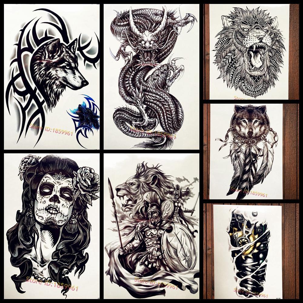 acheter black brambles wolf avec bracelet autocollant de tatouage