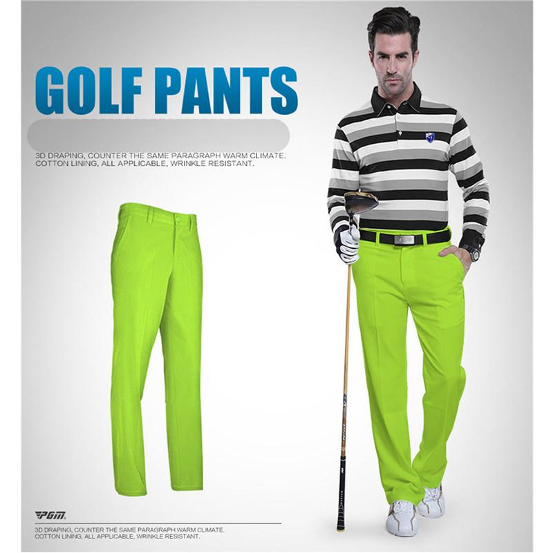 PGM Golf Pants for Men Thin Quick Dry Golf Long Clothes Trouser Waterproof Outdoor Sports Colorful Long Pants Plus Size