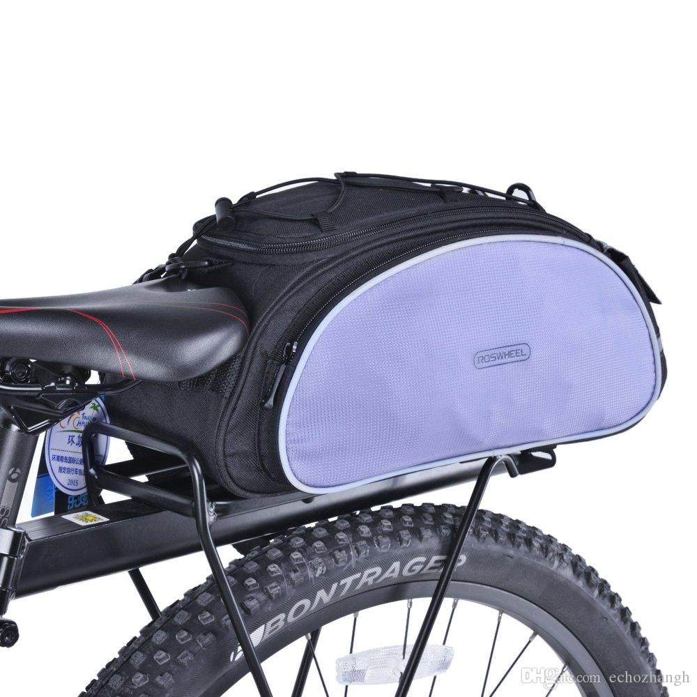 Roswheel Bicycle Bag Multifunction 13l Bike Tail Rear Saddle Mtb Rockbros 010 4bk Handlebar 6 Inch Waterproof Cycling Basket Rack Trunk Shoulder Handbag Messenger B Seat Bags