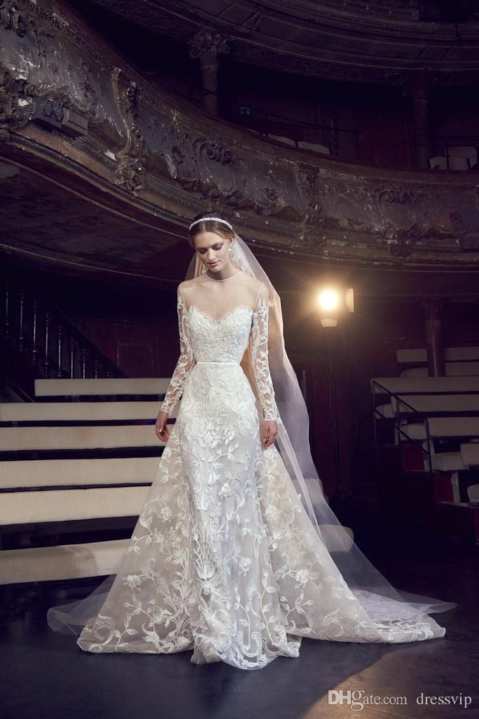 Discount Elie Saab Wedding Dresses With Long Sleeve Tulle Lace