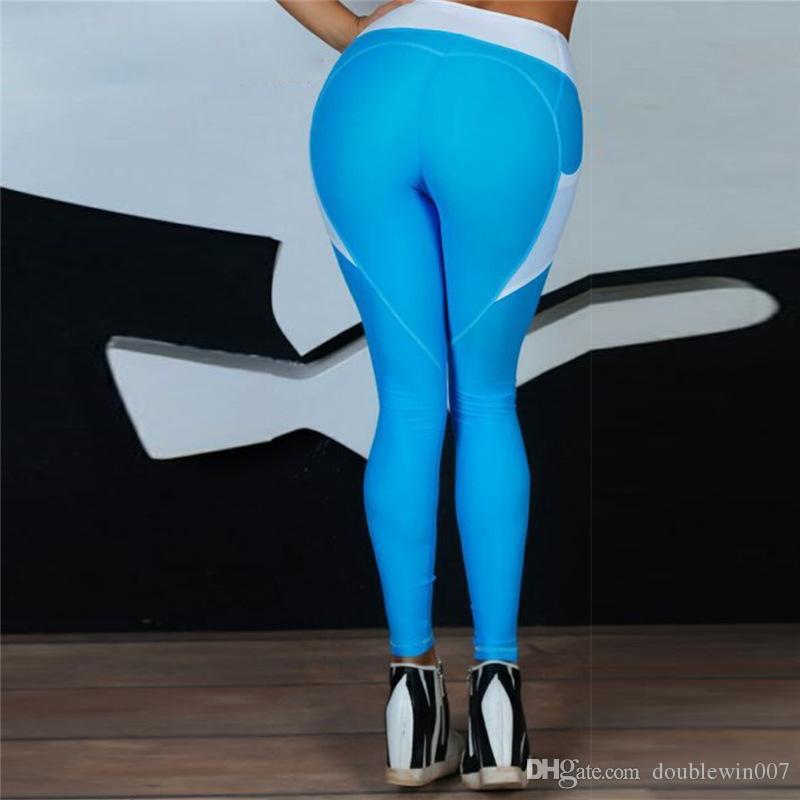 ملابس رياضية اليوغا سروال للياقة البدنية اليوغا اللباس رفع رياضة الجري الجوارب المرأة تجريب اليوجا الملابس Activewear للسهم أزرق المرأة السوداء