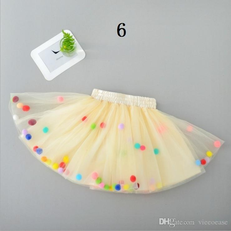Vieeoease Girls Skirt Ball Kids Clothing 2018 Spring Fashion Colorful Tutu Tulle Skirt Princess Party Skirt EE-002