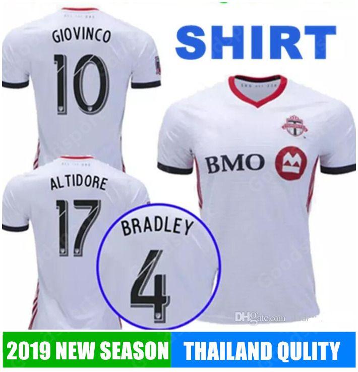 buy online 92455 47914 2019 Toronto FC soccer jersey home GIOVINCO 18 19 Toronto BRADLEY VAZQUEZ  ALTIDORE DELGADO Football shirt calcio futebal