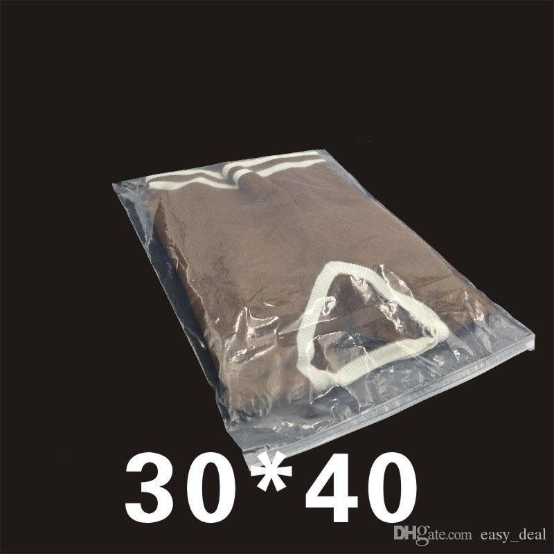 30*40cm Clear Zipper Self Seal Plastic Package Bag Reusable Ziplock Clothes Travel Organizer Storage Bag ZA6317
