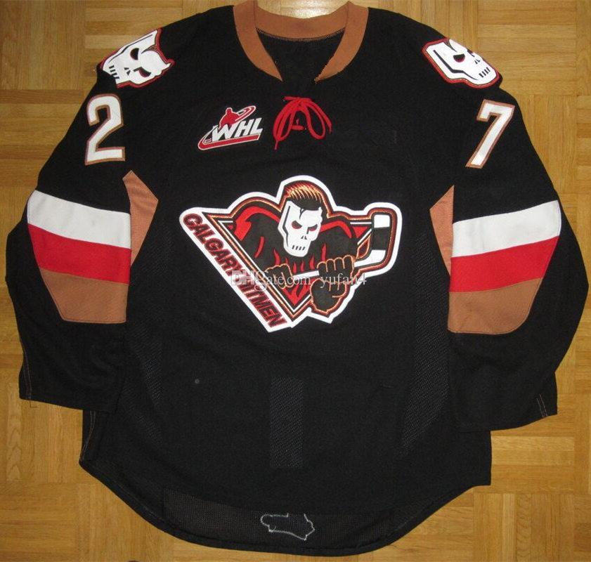 2019 Calgary Hitmen  27 Brady Brassart Retro Ice Hockey Jersey Mens  Stitched Custom Any Number And Name Jerseys From Yufan4 6d91b3b3e0a