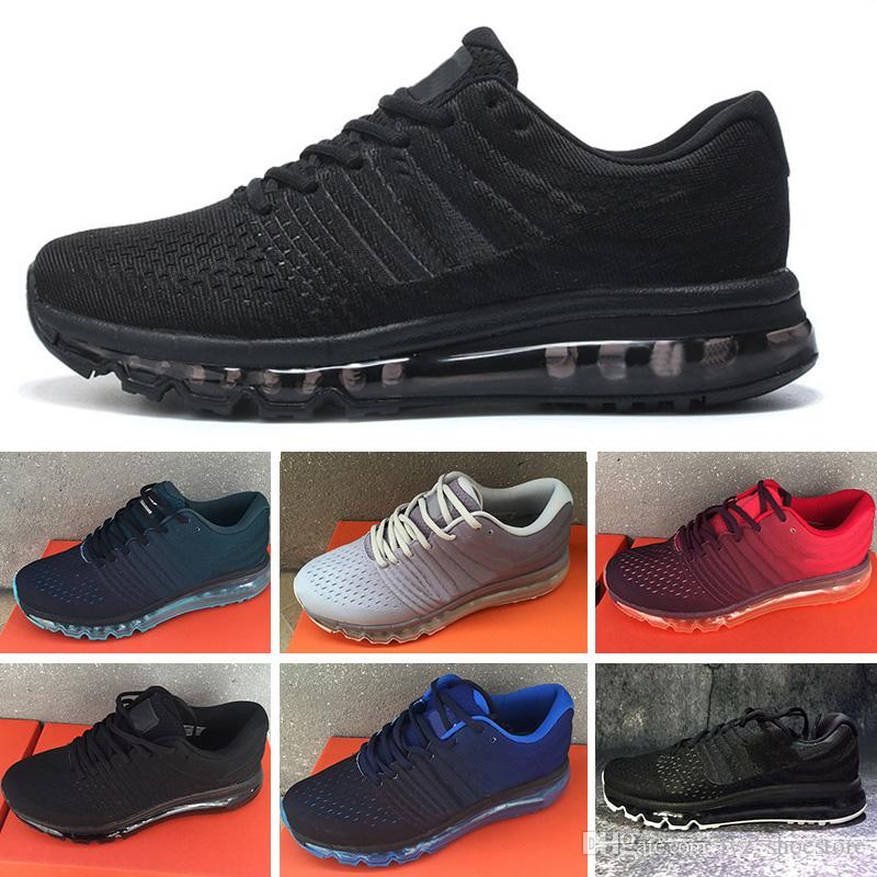 best cheap f6eeb 6a0e6 Acheter Nike Air Max 2017 Airmax 2017 Nouveau Style 2017 II Nanotechnologie  KPU Casual Chaussures Pour Hommes Femmes, Top Qualité Confortable Sport  Sport ...