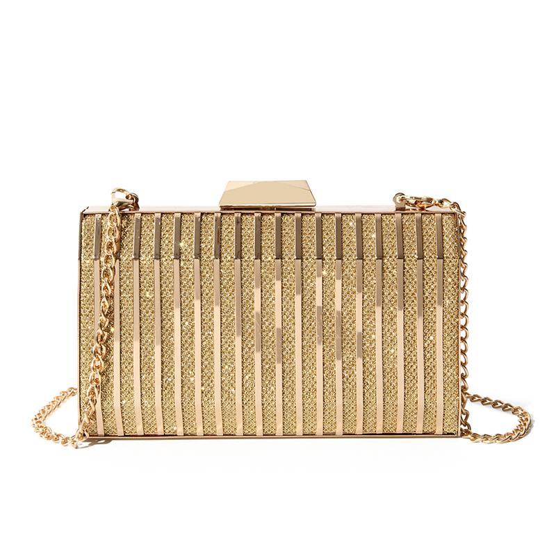 Women Evening Clutch Bag Ladies Gold Clutch