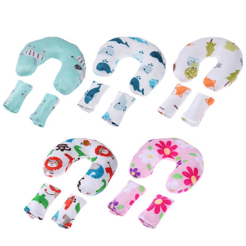 Activity & Gear Soft Baby Safety U-shaped Pillow With Protective Cover Car Seat Stroller Pillow Cartoon Short Plush Infant Head Neck Support