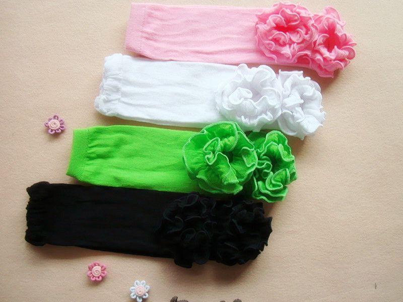 Colmena de color sólido calcetines para bebés Polka Dot Baby Toddler Leg Warmer Niños Skull Leg Warmers piernas de bebé calientapiés rosa