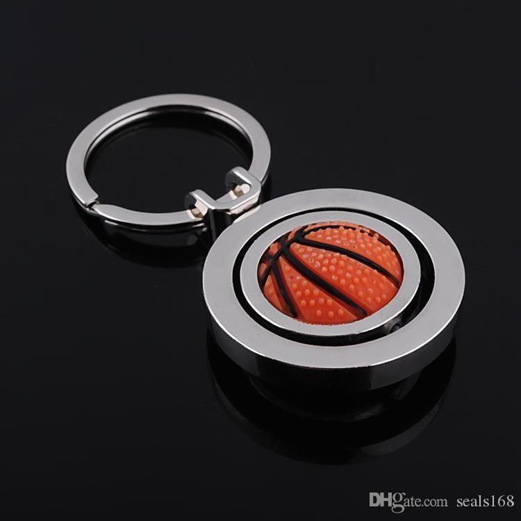 Yaratıcı Charm Futbol Anahtarlık Dönen Futbol Basketbol Golf Anahtarlık Kolye Hediyeler Parti Şenlikli Favor HH7-376