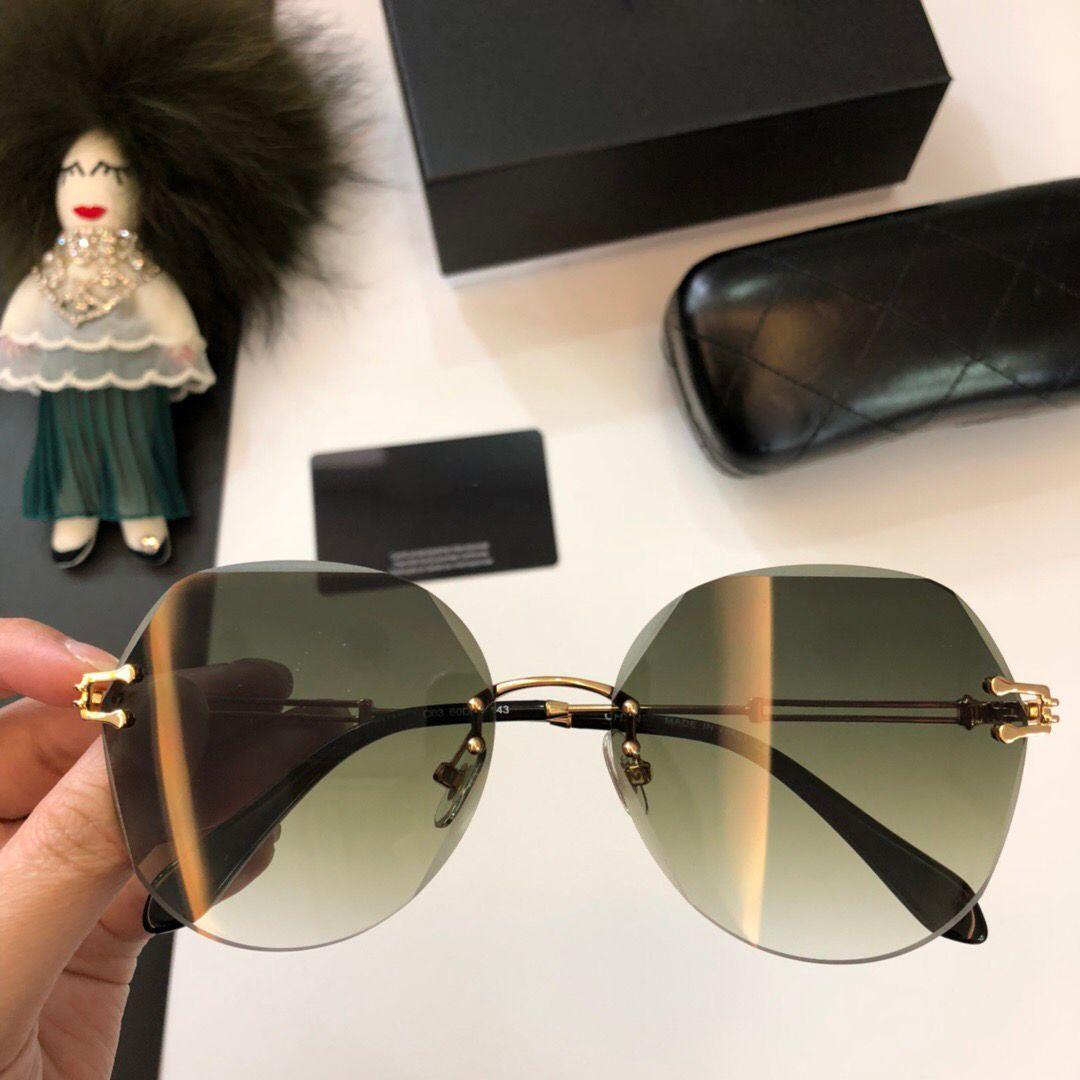 1082c73e77b Fashion Frameless Sunglasses Luxury Sunglass Women 2018 Rimless ...