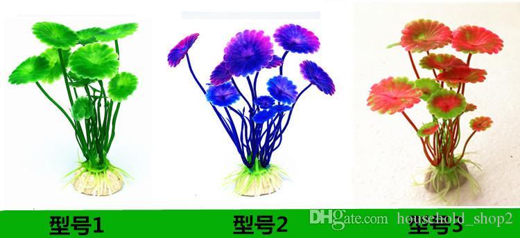 Plantes d'aquarium artificielles, Petite taille 4 à 4,5 pouces Hauteur approximative Comsun Fish Tank Décorations Décor À La Maison En Plastique 32 style