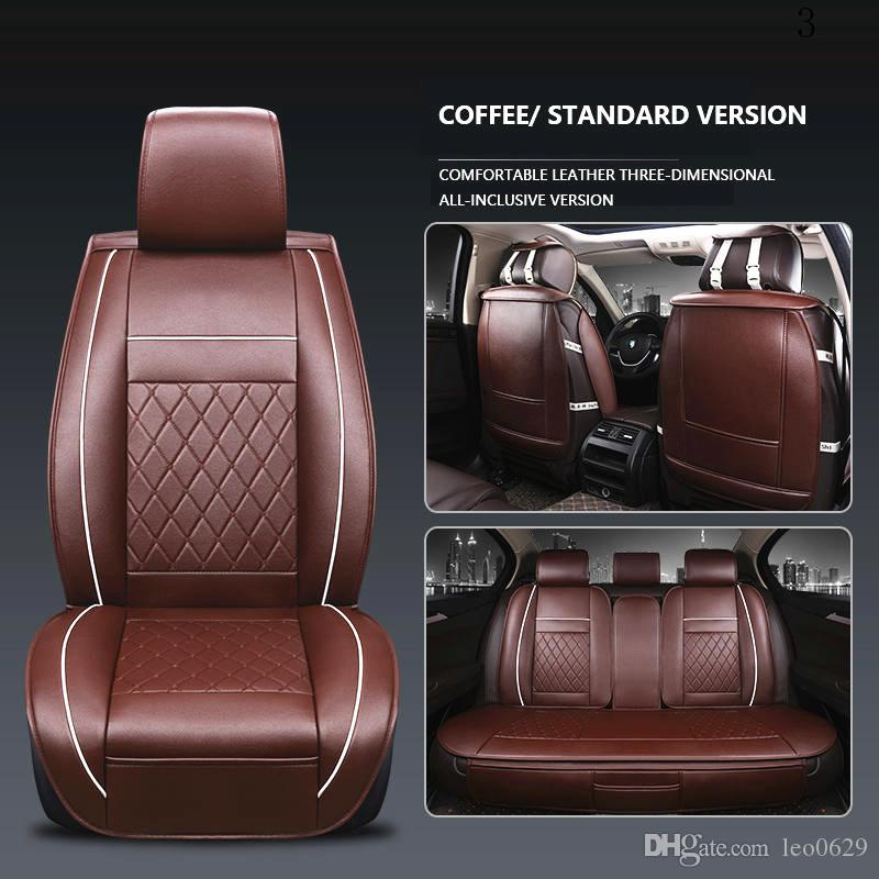 3D Universal Car Seat Cover Breathable PU Leather Subaru XV Forester Legacy Outback Covers Autostoel Hoezen Customized
