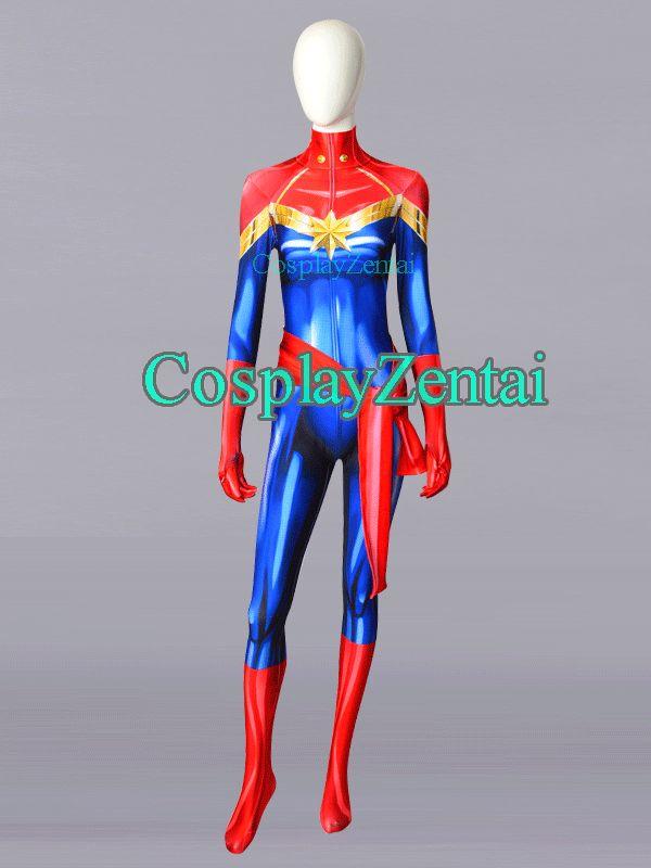 Compre Hot Sale Ms. Marvel Carol Danvers Impresión 3D Trajes De Halloween  Spandex Para Mujer Zentai Suit A  60.92 Del Heroscostumes  ffdb97f1d954