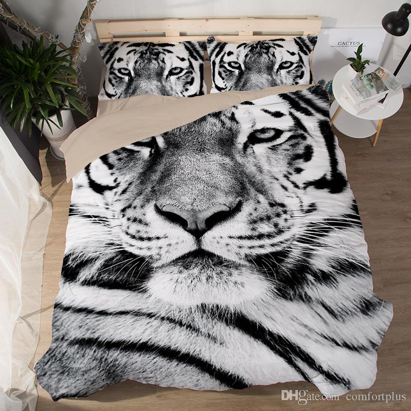 Tigers Duvet Cover Set 2PC-3PC Bedding Set Quilt Cover Pillowcase Twin Full/Queen King 6 Patterns to Choose