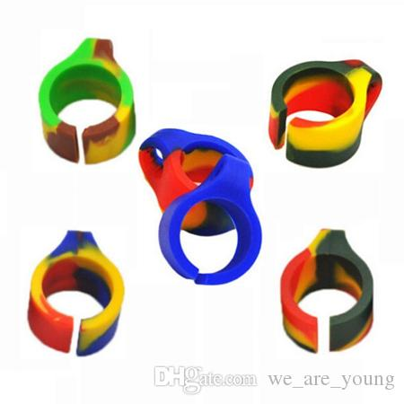Cigarette Rings Silicone Smoking Cigarette Smoke Ring Stent Tobacco Joint Holder Rings For Regular Size 7-8mm Cigarette Smoking Ring