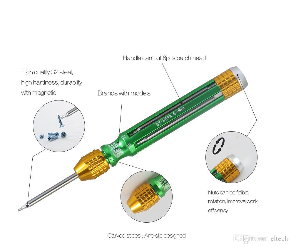 6 في 1 مجموعة مفك مغناطيسي الدقة متعدد الوظائف لأدوات افتتاح إصلاح الهاتف المحمول