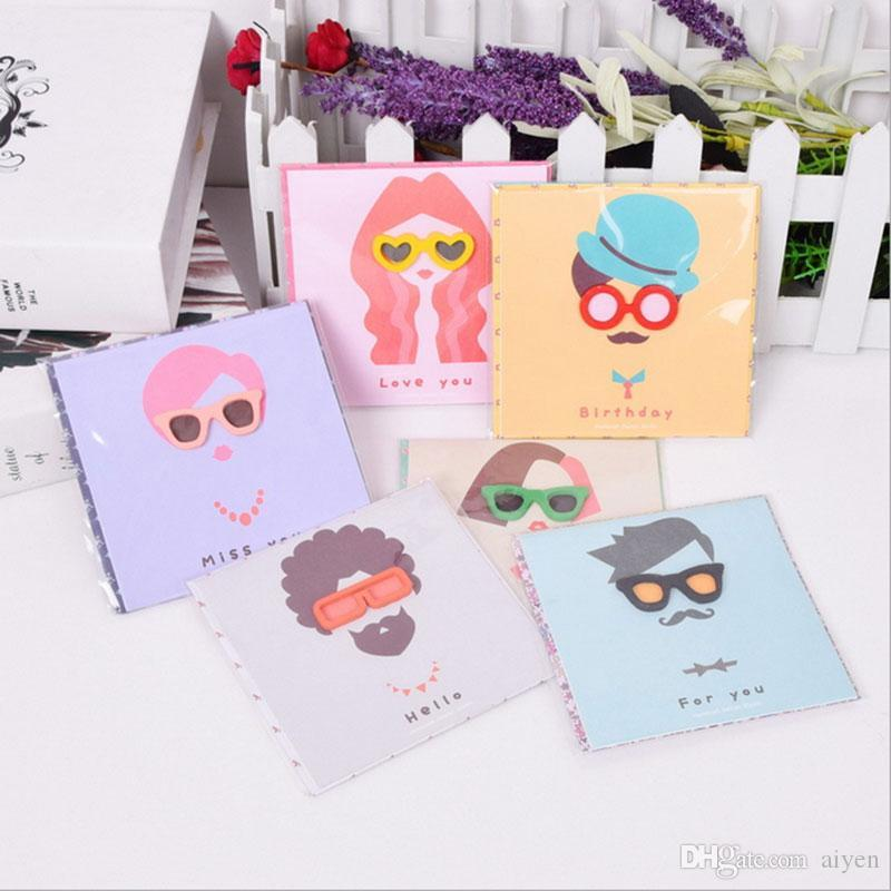 Discount Wholesale Mini Glasses Greeting Cards Small Envelope ...