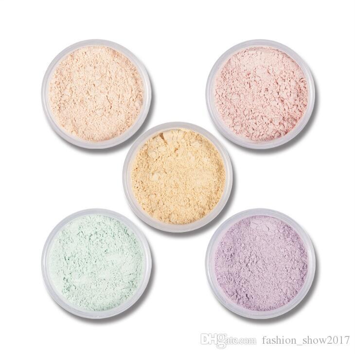 5 Couleurs Lisse Poudre Libre Maquillage Poudre Transparente Finition Puff Imperméable Cosmétique Pour La Finition Du Visage Réglage