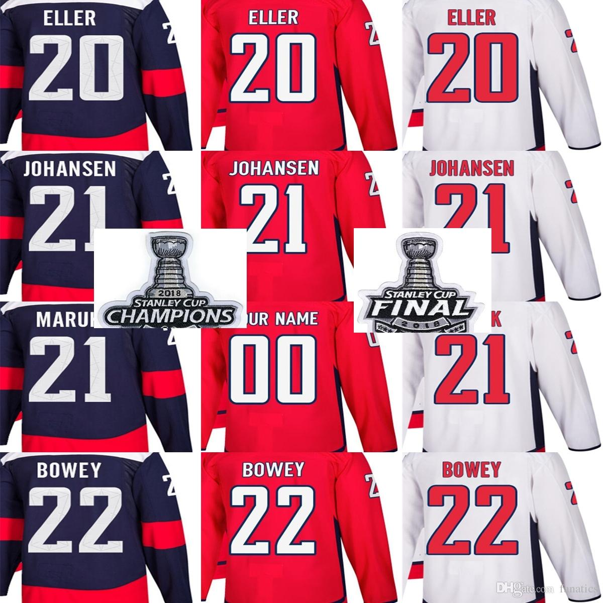 781da9965 2018 Stanley Cup Champions Final Patch Men Washington Capitals Lars ...