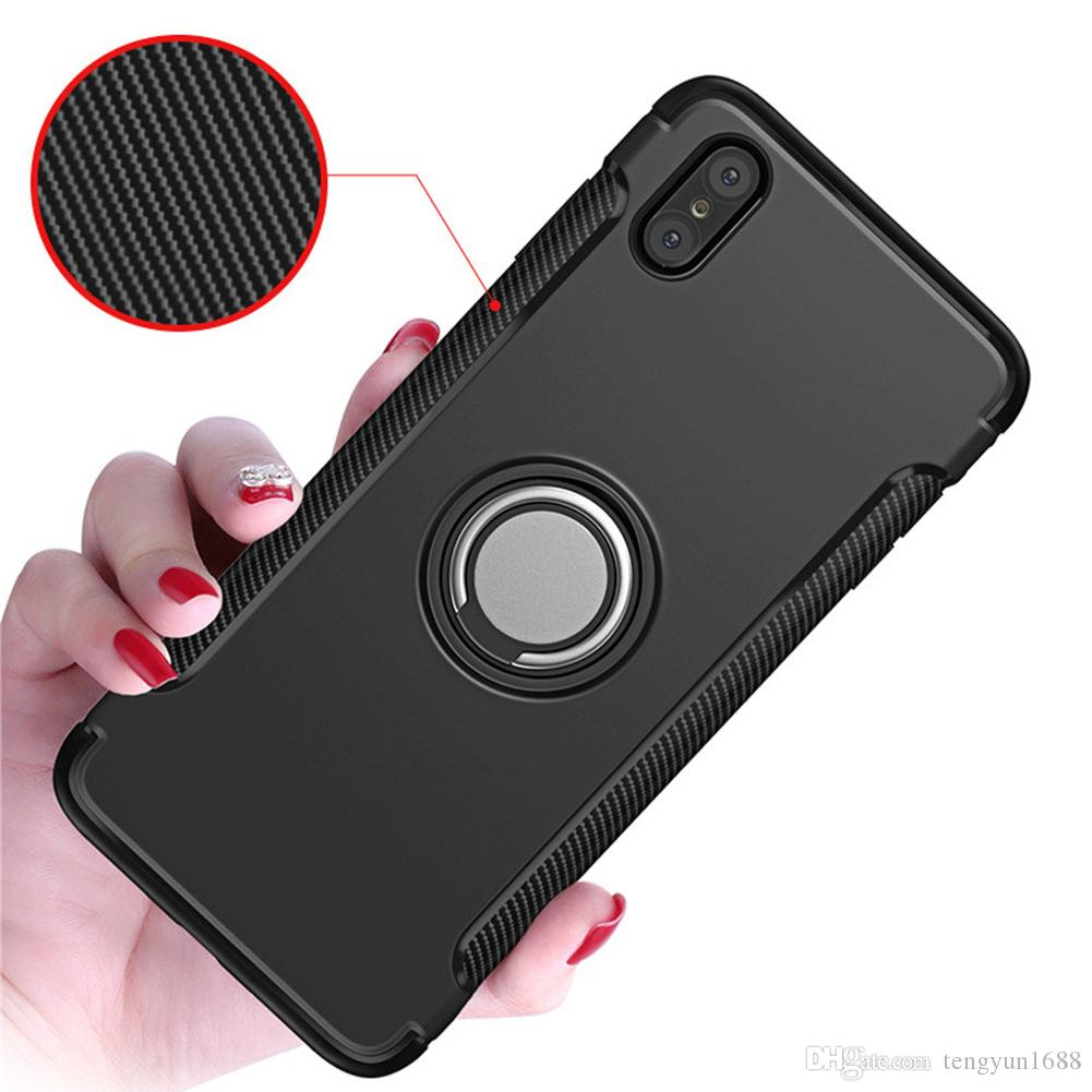 quality design ef507 c1f68 For iphone X Case,phone Protective Cover With Kick stand With Magnetic Car  Mount With Grip Rotating Ring Holder Stand For Iphone X