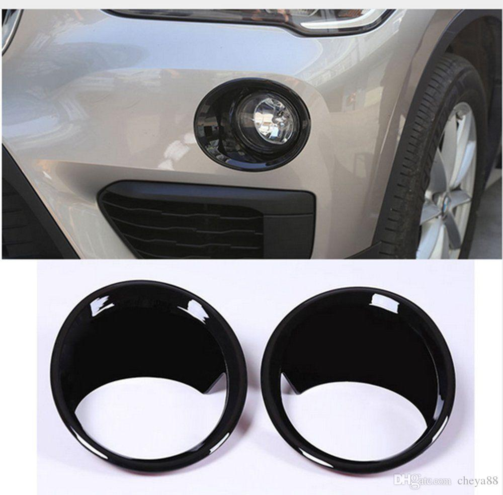 Carbon Fiber Style Chrome Front Fog Light Lamp Cover Ring Trim For BMW X1 F48 2016-2018 Car Accessory